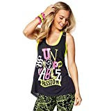 Zumba Fitness Passion Débardeur Femme Back to Black FR : M (Taille Fabricant : M)