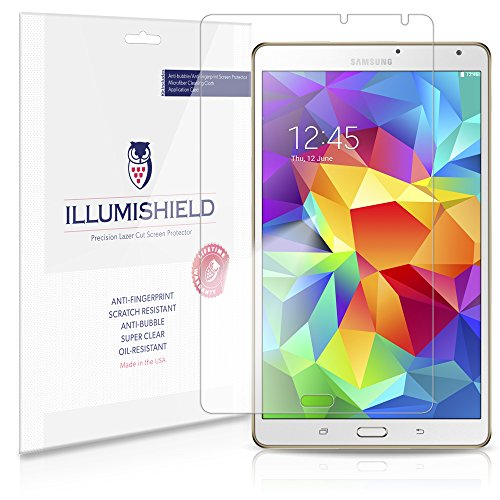 Illumishield - Samsung Galaxy Tab S 8.4 Screen Protector Japanese Ultra Clear Hd Film With Anti-Bubble And Anti-Fingerprint - High Quality (Invisible) Lcd Shield - Lifetime Replacement Warranty - [2-Pack] Oem / Retail Packaging Sm-T700