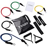 Resistance Band Set - 11 PCS Fitness Resistance Bands Set Workout With Exercise Tubes, Door Anchor, Ankle Straps, And Handles For Legs, Weight Loss Or Body Building - Perfect for Home & Travel Gym