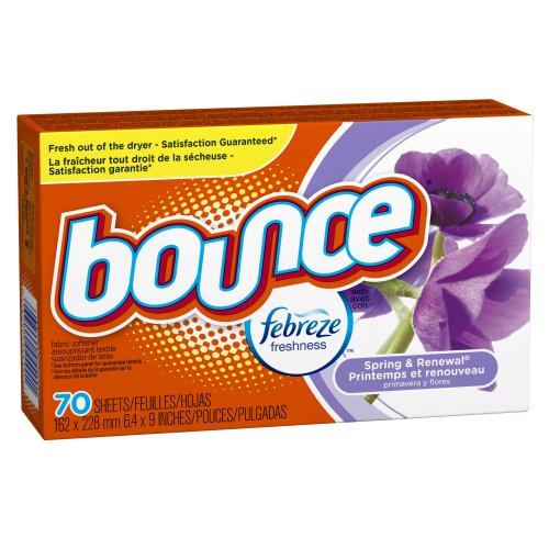 Bounce With Febreze Scent Spring & Renewal Fabric Softener Sheets 70 Count (Pack Of 3)