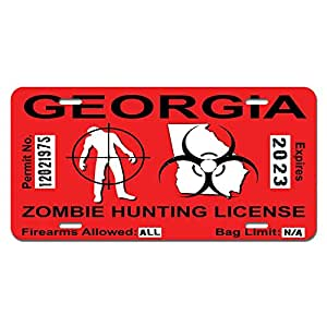 Georgia ga zombie hunting license permit red for Ga fishing license