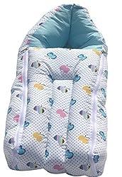 Amardeep and Co Baby Sleeping Bag Cum Baby Carry Bag (Blue) - sb01-blue-apple
