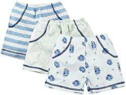 Infant Boys Shorts Pack Of 3 - Multi Coloured (0-3 Months)