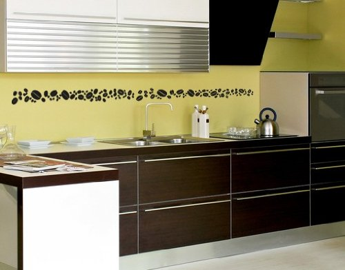 Best Quality Vinyl Wall Sticker Decals - Coffee Bean Set ( Size: 12in x 12in - Color: beige ) - No: 2237