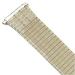 Watch Band Expansion Metal Stretch Silver Color fits 18mm to 22mm