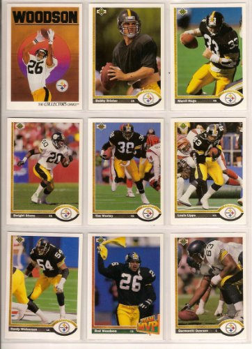 Pittsburgh Steelers 1991 Upper Deck Football Team Set (Bubby Brister) (Rob Woodson) (Merrill Hoge) (Louis Lipps) (Hardy Nickerson)