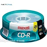 CD-R 700MB Write Once Recordable Disc Spindle Pack Of 25 And Free 6 Feet Netcna HDMI Cable - By NETCNA