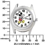 Disney Men's D136S002 Mickey Mouse Black Leather Strap Watch