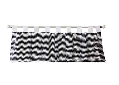 Trend Lab Bedtime Gray Chevron Window Valance