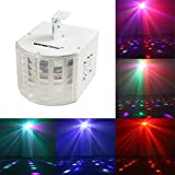 WOWTOU® 18W Super Bright Speed Adjustable Voice-activated 6 Colors Multi-lens LED Party Disco Stage Dance Club DJ Lighting LED Strobe Light