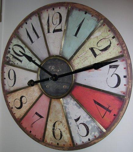 modern diy large wall clock 3d mirror effect sticker decal home art