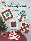 Templates for 63 Christmas quilt blocks (0881952230) by Weiss, Rita