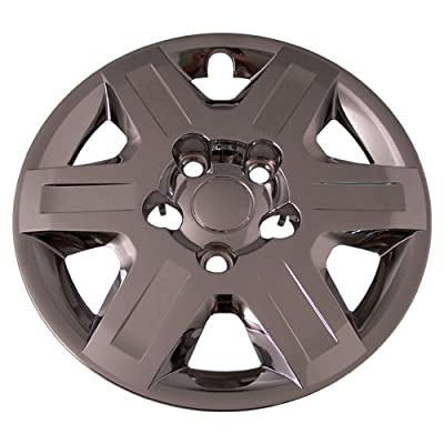 Set of 4 Chrome 16 Inch Aftermarket Replacement Hubcaps for a Bolt On Retention System - Part Number: IWC451/16C