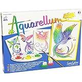 Sentosphere Aquarellum Junior 3900060 Painting Set with 4 Pictures Birds of Paradise Theme