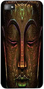 Snoogg Buddha Neon Case Cover For Blackberry Z10