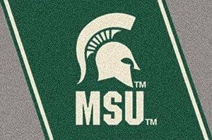 American Floor Mats Michigan State Spartans NCAA College Team Spirit Team Area Rug 28x310