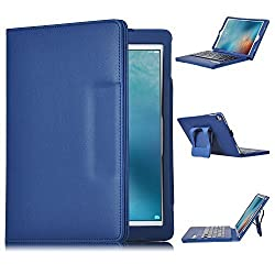 iPad Pro 9.7 Keyboard case, IVSO® APPLE iPad Pro 9.7 Case With Keyboard Ultra-Thin High Quality PU Leather DETACHABLE Bluetooth Keyboard Stand Case / Cover for APPLE iPad Pro 9.7 inch Tablet (Blue)
