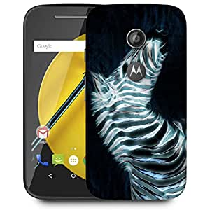 Snoogg Neon Zebra Designer Protective Back Case Cover For MOTOROLA E2