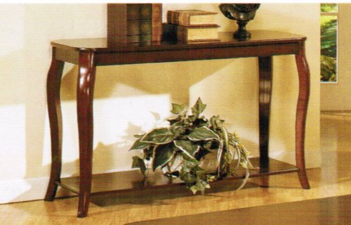 Cheap Console Sofa Table with Storage Shelf – Cherry Finish (VF_F6152)