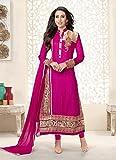 Krishna Emporia Women's Pink Salwar Suit Dupatta Dress Material (karishma kapoor suits)
