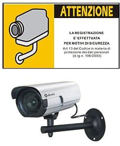 Finta telecamera di sorveglianza da esterno con cartello for Telecamera amazon