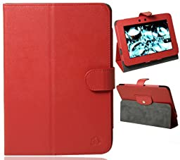 Red Melrose PU (Faux) Leather Case for Amazon Amazon Kindle Fire HD 7\