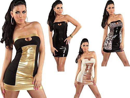 Bandeau-Minikleid * tolle Farben - Clubwear Gogodress Gr. S/M