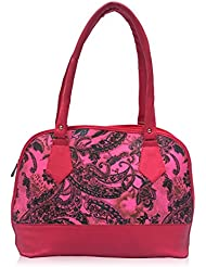 Vintage Premium Ladies Handbag Hot Pink(bag 77)