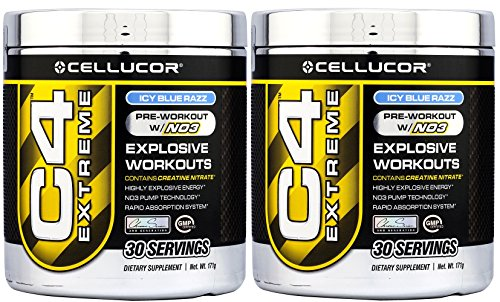 Cellucor C4 Extreme Icy Blue Razz 30 Servings 2 Pack