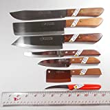 Thai Chefs Knife Cook Utility Knives Mixed Set 7 pcs mixed KIWI Brand No. 01 504 503 502 172 171 247 Cutlery Steak Wood Handle Kitchen Sharp Blade Stainless Steel.