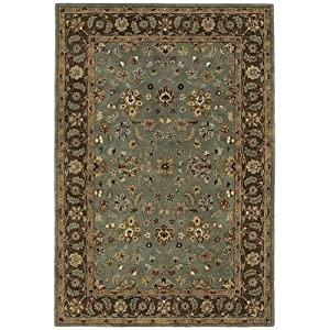 Amazon.com: Mystical Garden Queens Garden Blue Oriental Rug Size ...