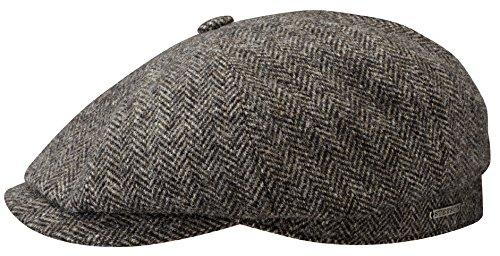 Hatteras Woolrich Coppola Stetson cappello piatto berretti piatti 59 cm - marrone scuro