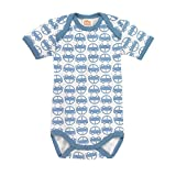 giggle Better Basics Short-Sleeve Lap Shoulder Baby Body Cars (Organic Cotton)
