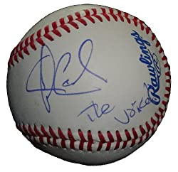 "Winner of NBC's The Voice Javier Colon Autographed ROLB Baseball Featuring ""The Voice"" Inscription! Proof Photo"