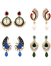 Sukkhi Exquisite Gold Plated AD Combo Earring For Women