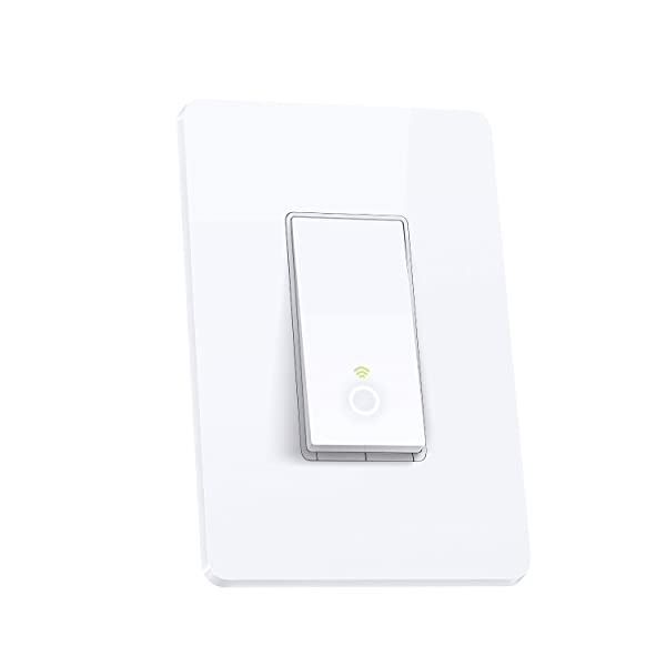 TP-Link Smart Wi-Fi Light Switch, No Hub Required, Single Pole, Control Your Fixtures From Anywhere (HS200), Works with Amazon Alexa Kit (2-Pack) (Color: White, Tamaño: Kasa Light Switch, 1-Pole 2-Pack)