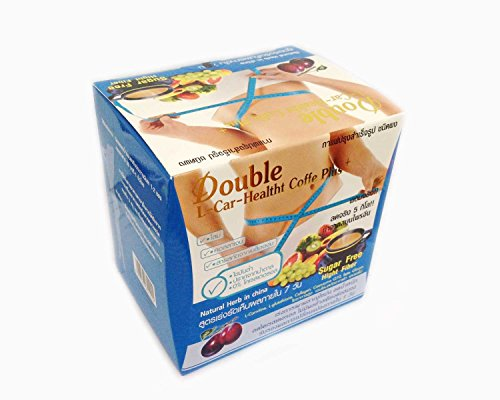 3 Boxes X Double L-Carnitine Healthy Plus Instant Coffee Plus Diet Weight Loss (Instant Coffee With Collagen Fruit (Cacit-Nea), Chromium And Fiber.