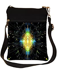 Snoogg Abstract Design Cross Body Tote Bag / Shoulder Sling Carry Bag