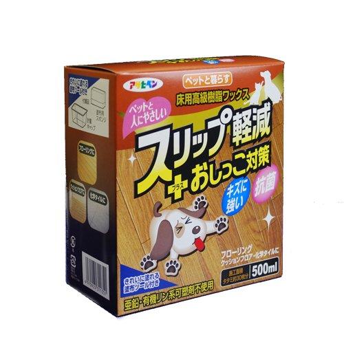 アサヒペン ペットと暮らす床用高級樹脂ワックス 500ML