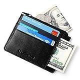 Lackingone RFID Portafoglio Uomo Pelle Nero Porta Carte di Credito Uomo Porta Soldi Uomo Portamonete Uomo Pelle Wallet Uomo Classsico e Slim Nero