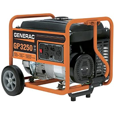 Generac 5982 GP3250 3,750 Watt 206cc OHV Portable Gas Powered Generator