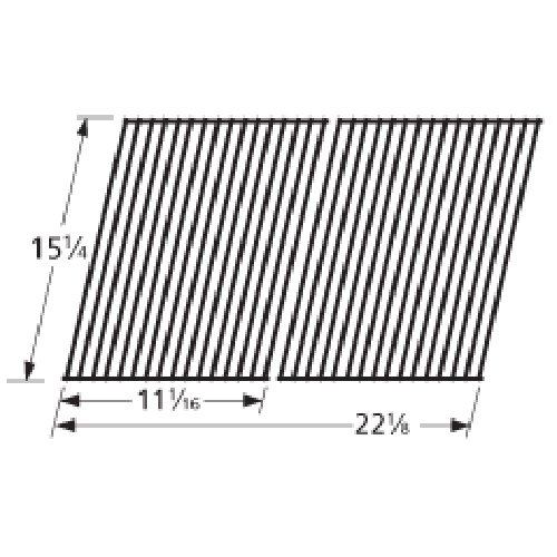 Music City Metals 51652 Porcelain Steel Wire Cooking Grid Replacement for Gas Grill Model Kenmore 141.152210, Set of 2