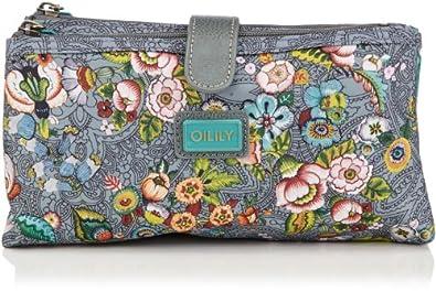 Oilily Womens French Flowers Double Flat CB Grey Cosmetic bag Gray Grau (grey 604) Size: 24x13x6 cm (B x H x T)