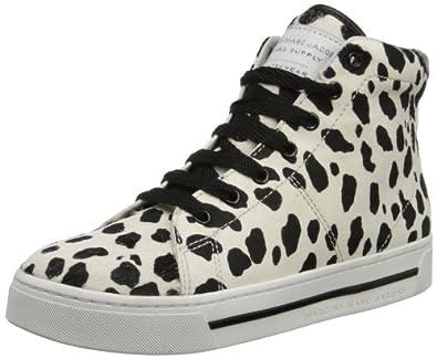 Marc by Marc Jacobs Women's 645046-042 Fashion Sneaker,White/Black,36 EU/6 M US