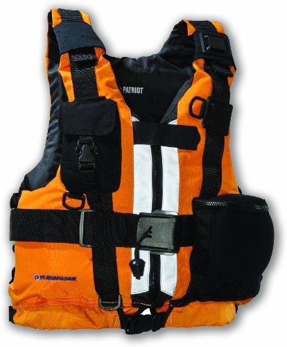 MTI Adventurewear Patriot High Buoyancy Rescue PFD Life Jacket (Mango, X-Small/Small)