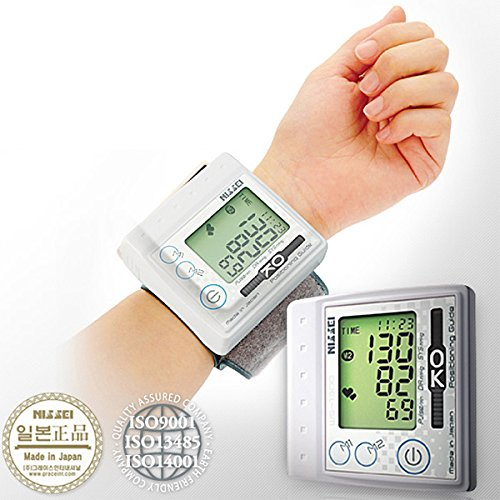 NISSEI Japan WS-1300 Digital Blood Pressure Monitor Wrist-type Compact Easy to use (Nissei Blood Pressure Monitor compare prices)