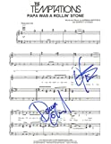 "The Temptations - Autographed ""Papa Was a Rollin'Stone"" Sheet Music"