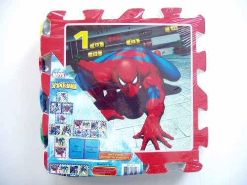Buy Low Price What Kids Want! SPIDERMAN Soft Foam Hopscotch Play Mat (B001QYVNZA)