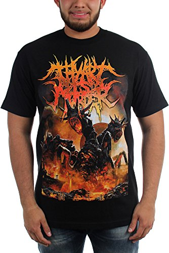 Thy Art Is Murder-Hate-Maglietta da uomo nero Large