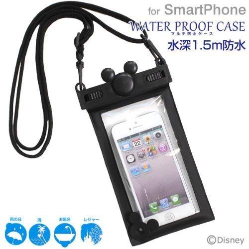 ディズニー キャラクター スマホ 防水 ケース カバー iPhone / iPhone5 / iPhone5S / iPhone5C / iPod / Disney Mobile / Xperia Z1f / Xperia A / Galaxy S4 / 各種 スマートフォン 対応 (ブラック)